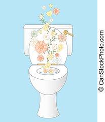 туалет, свежий