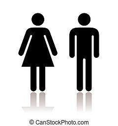 туалет, символ