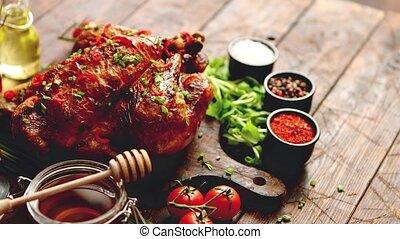 турция, перец чили, pepers, roasted, зубок чеснока, served,...