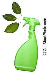уборка, зеленый