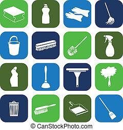 уборка, icons