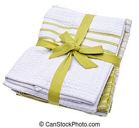 уборка, towels, стек, зеленый