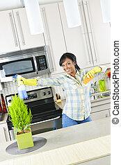 уборщица, молодой, кухня