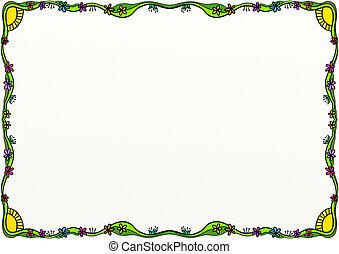 украшение, весна, граница, страница, болван