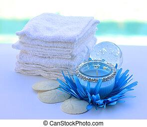 украшение, свеча, полотенце, salon., спа
