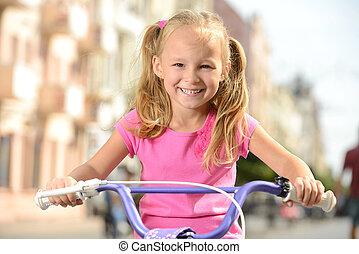улица, велосипед