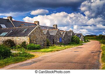 улица, посмотреть, of, красивая, деревня, of, rostudel,...
