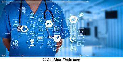 умная, успех, врач, медицинская