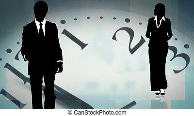 унисон, бизнес, за работой, молодой, вместе, команда