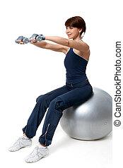 упражнение, на, мяч