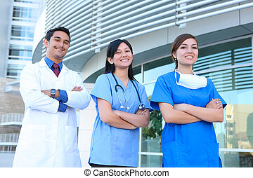 успешный, медицинская, команда