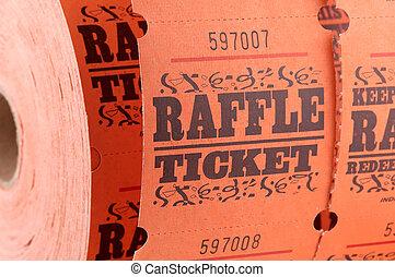 участвовать в лотерее, билет
