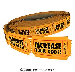 участвовать в лотерее, tickets, ваш, chances, шансы,...
