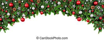 фасонный, широкий, рождество, лук, граница