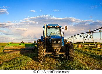 ферма, трактор