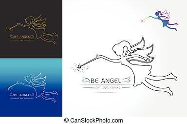 фея, летающий, логотип
