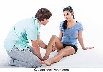 физиотерапевт, обучение, пациент