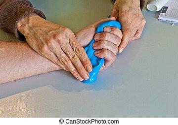 физиотерапия, выздоравливать, палец, рука