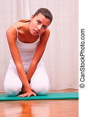 физиотерапия, упражнение, ковер