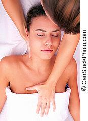 физиотерапия, шейный, массаж