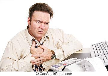 финансовый, проблемы, -, indigestion, или, инфаркт