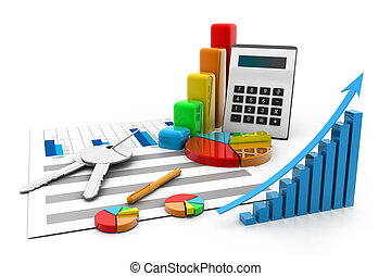финансовый, charts, and, диаграммы
