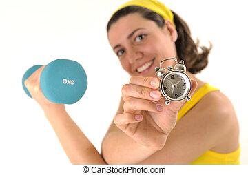 фитнес, время