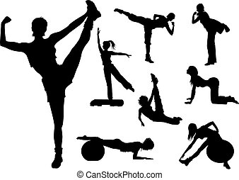 фитнес, женщина