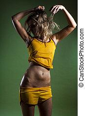 фитнес, красивая, тело