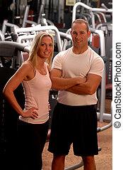 фитнес, пара