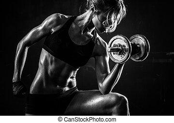 фитнес, dumbbells