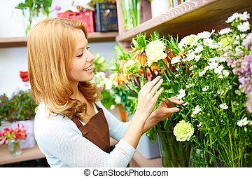 флорист, работа