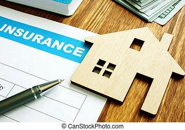 форма, дом, homeowners, модель, home., страхование