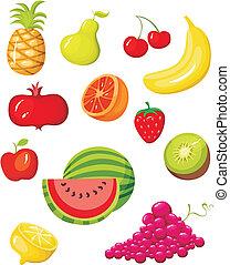 фрукты, задавать