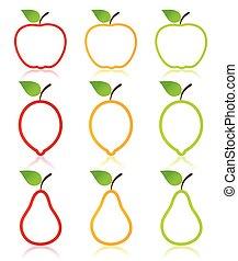 фрукты, значок