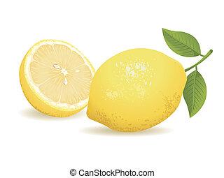 фрукты, лимон