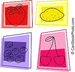 фрукты, icons