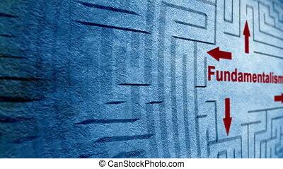 фундаментализм, лабиринт, концепция