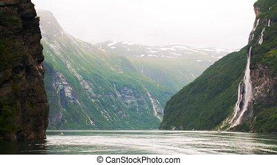 фьорд, geiranger, норвегия