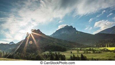 хвойный, холм, словакия, скалистый, лес