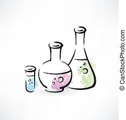 химия, гранж, значок