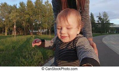 ходить, ребенок, learns