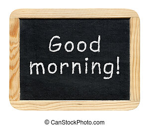 хорошо, классная доска, isolated, morning!, задний план, ...