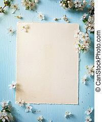 цвести, весна, граница, изобразительное искусство, задний план