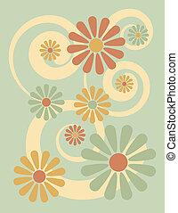 цветок, зеленый, задний план
