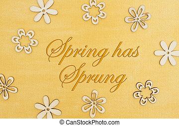цветок, золото, окрашенный, весна, захмелевший, рука, petals, дерево, сообщение, has, distressed