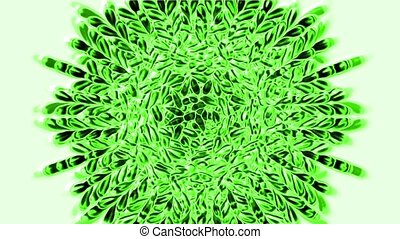 цветок, мандала, шаблон, текстура, религия, зеленый, перо