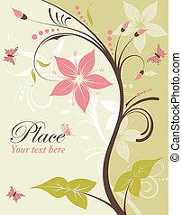 цветок, рамка