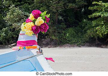 цветок, цветной, лодка