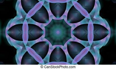 цветок, шаблон, бесшовный, kaleidoscop